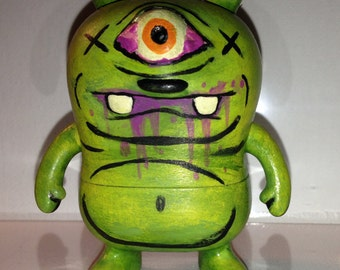 "Uglydoll custom vinyl figure weirdo cyclops bear monster ""Frank"""