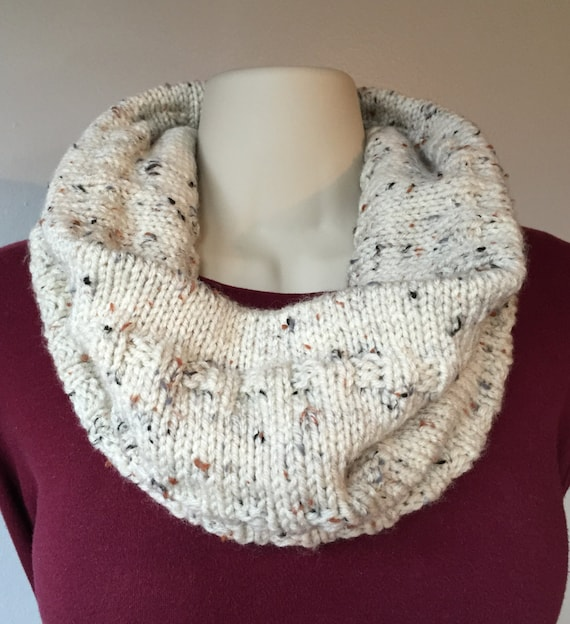 Neck Warmer Hand Knit in Aran Fleck Color by ...