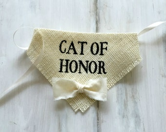 Custom Bowtie Color Cat Accessories Bandana Cat of Honor Wedding Collar Boy Bowtie One Size Photo Prop Engagement Save the Date