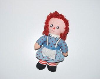 Raggedy Ann Mini Small Doll Knickerbocker 4.5: