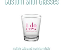 Custom Imprinted Pint Glass Favors (variety of colors and logo options available!)  FREE SHIPPING!