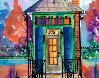 575 New Orleans Green Shotgun House