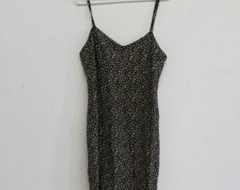 Slashed Bottom Mini Dress