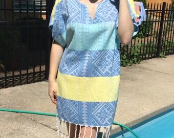 Beach Cover Up.Peshtemal Tunic.Massage Robe.Turkish Cotton Dress.Use it in Bath , Spa , Beach , Pool, Gym