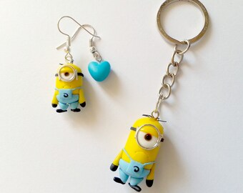 Angry Minions FAN ART - Despicable Me Cattivissimo Me - Kevin Stuart Bob Banana Necklace earrings or Keychain