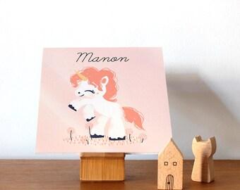 Personalized children's door plaque -  The Little Unicorn