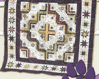 Stars In My Cabin Pattern by Deb Heatherly - Pattern Only DH1602; Lap Quilt, Log Cabin Quilt; Sewing, Quilting; Deb's Cats N Quilts