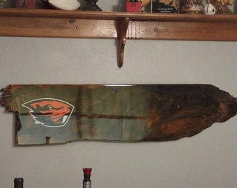 Custom made oregon state beaver sign