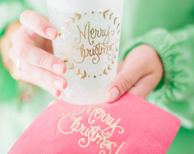 Christmas Cups (reusable) - Qty 12