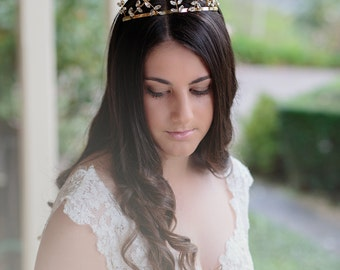 ESTELLE - Crown - Bridal headpiece, Bridal Crown, Bridal Tiara, Wedding Accessories, Wedding headpiece,