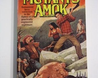 Mutants Amok Mutant Hell by Mark Grant Avon Books 1991 Vintage Sci-Fi Paperback