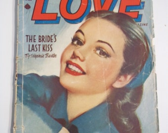 Ten Story Love Vol XVIII # 2 June 1945 Vintage Romance Pulp Magazine GGA
