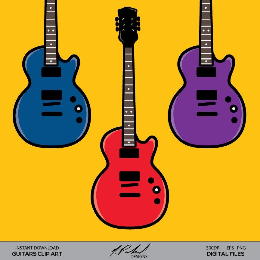 Guitar Clip Art Digital File Guitars Digital Clipart