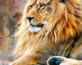 "Wall Art, Painting, ""Majesty in Repose"", Limited Edition Archival Fine Art Giclee Print"