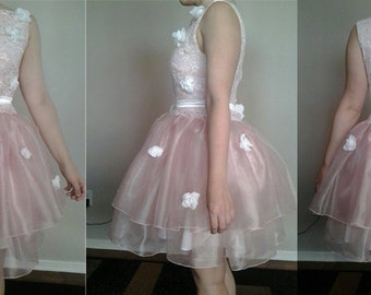 One of A Kind Pink and White Princess Dress