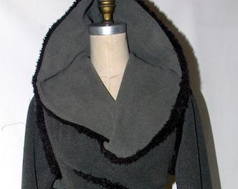 Hooded scarf jacket