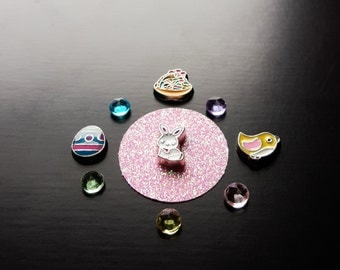 Easter Floating Charm Set for Floating Lockets-10 Pieces-Gift Ideas