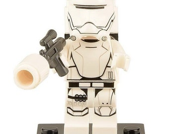 Star Wars© Flame Trooper™ Storm Trooper™ ID Holder Customized with Brick® Minifigure ~ Badge Reel ~ Belt Clip ~ Alligator Clip ~ Keychain