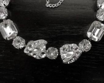 Gorgeous Single Row Eisenberg Rhinestones Bracelet - 1940s