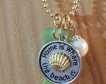 Beachy. A Double Ball and Chain Necklace.