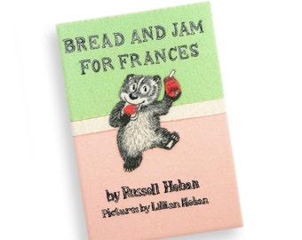 Book Clutch - Bread and Jam for Frances by Russell Hoban. Hand embroidered book purse with felt appliquè