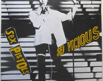 Original 1978 Sid Vicious Promotional Poster for the Single 'My Way' From the Album The Great Rock 'n' roll Swindle