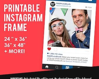 Selfie Frame Sign, Selfie Frame, Photo Booth Prop, Wedding Sign, Photo Prop, Social Media { DIY Printable }