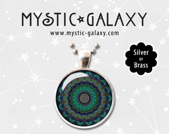 Mandala Bracelets, Rings, Earrings, Necklaces Mandala Art Pendant, Mandala Necklace, Mandala #015