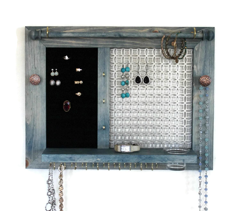 Jewelry Holder Wooden Wall Hanging Jewelry Organizer Jewelry