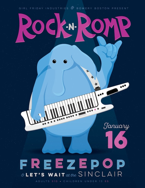 Freezepop Gig Poster, The Sinclair, Cambridge MA