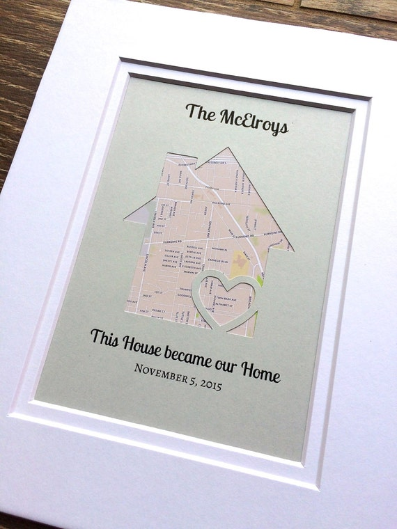 This House Became Our Home Personalized Map Housewarming