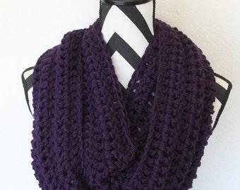 Royal Purple Infinity Scarf