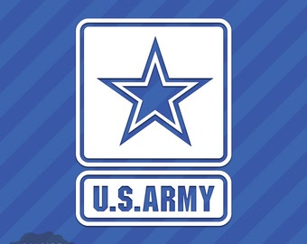 US Army Star Logo Vinyl Decal Sticker