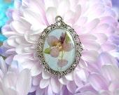 SALE - Real flower pendant delphinium flower- p0010-2