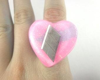 SALE! Razor pastel ring