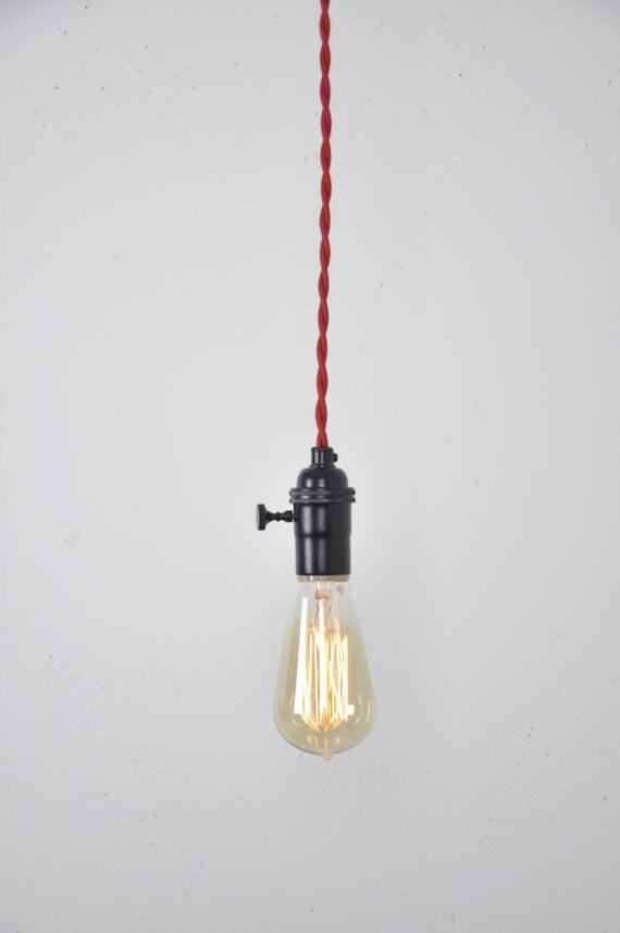 Schwarzen Pendelleuchte rote Schnur hängende Leuchte