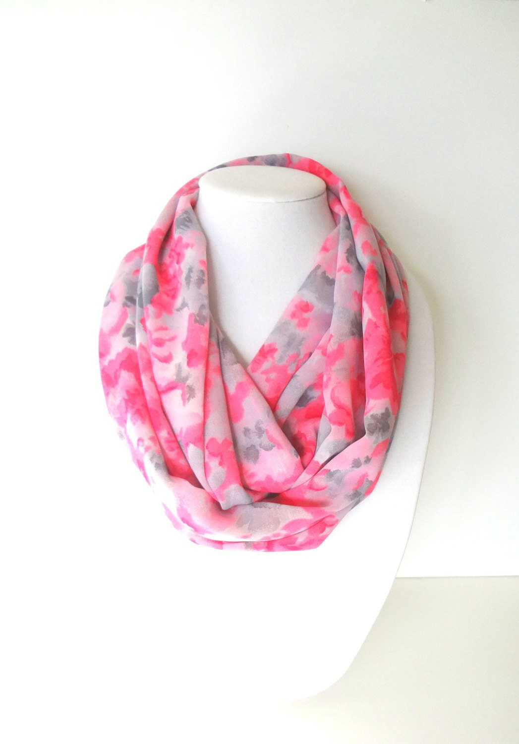 Infinity Floral Scarf Hot Pink Scarf Women S Scarves