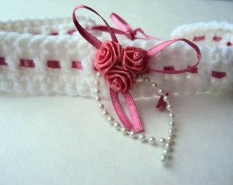 Garter - Crochet Garter - Wedding Garter - Bridal Garter - Bridal Accessory - Crochet Bridal Garter
