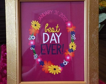 CUSTOM Best Day Ever! • Digital Print • Tangled Princess Rapunzel Birthday