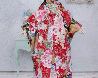 BJDs Clothing- Golden Blossom Kimono for 1/3 size doll