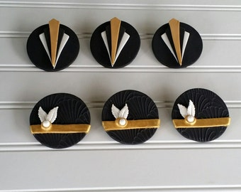 Great Gatsby/Art Deco Fondant Cupcake Toppers