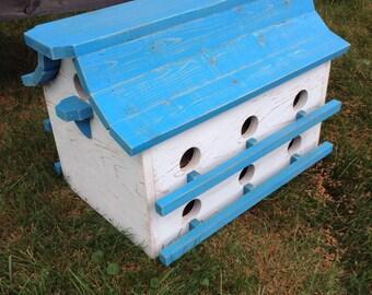 Bird House - Purple Martin House - Rustic Birdhouse - Garden Decor - Functional Bird House - Custom Made - Pine Wood House