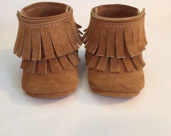 Two Layer Ankle Boot Moccasins