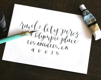 custom envelope addressing // modern calligraphy style