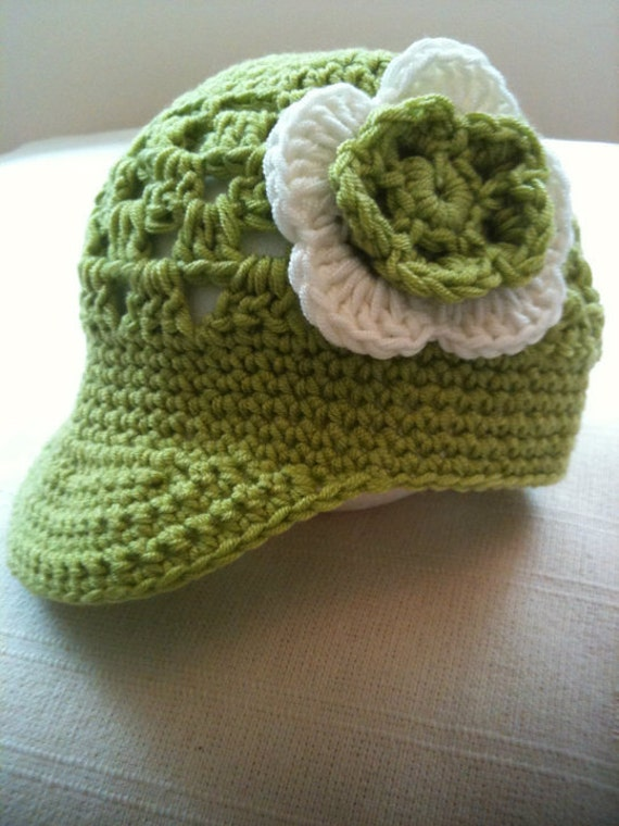 Crochet Pattern: Baby Visor Beanie 0012 Permission to Sell