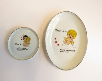 LOVE IS cartoon 1970s dishes - so sweet!