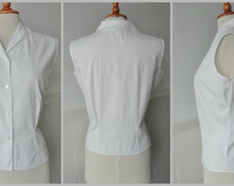 Lovely White 50s/60s Cotton Top