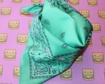 Cotton Candy Bandana in Green - festival accessories - pastel goth - kawaii - pastel grunge - tomorroworld - rave bandana - edc - rave - edm
