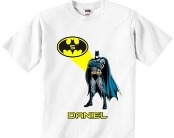 Personalized Batman T-Shirt, Batman Birthday T-Shirt, Batman Birthday Party, Batman T-Shirt, Super Hero T-Shirt, Batman