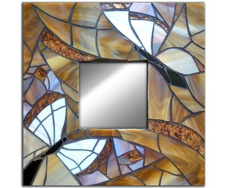 Mosaic Butterfly Wall Mirror, Handmade Butterfly Mirror, Butterfly Mosaic Wall Mirror,